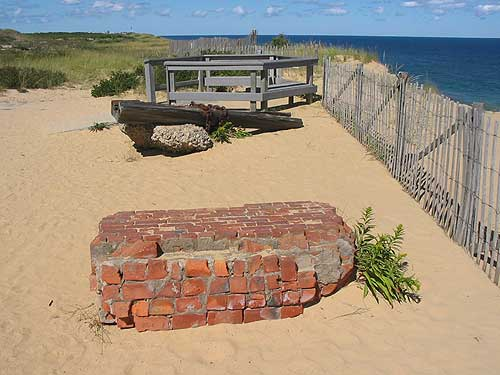 WEST BARNSTABLE BRICK IN MARCONI RUINS